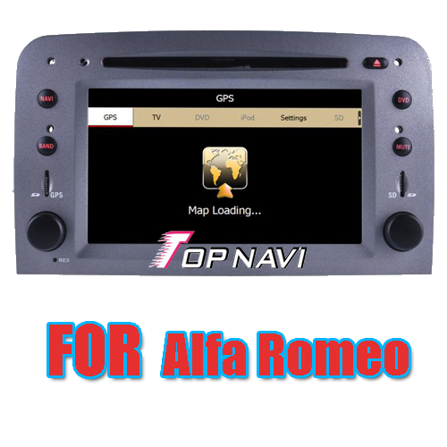 Car DVD Player For Alfa Romeo With GPS Navigation Bluetooth Radio RDS IPOD IPONE     TN9301