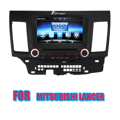 8 inch Car DVD Player For Mitsubishi Lancer With GPS Bluetooth Radio DVD    TN9805